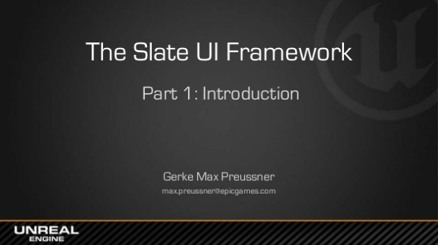 The Slate UI Framework: Introduction